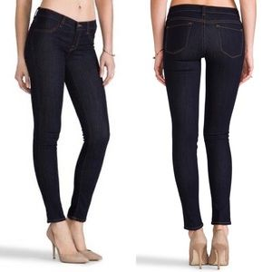 J Brand Midrise Super Skinny in Starless